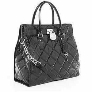 Michael Kors Quilted Patent Leather Hamilton Tote